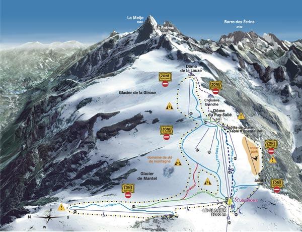 Карта трасс №1 Ле Дез Альп