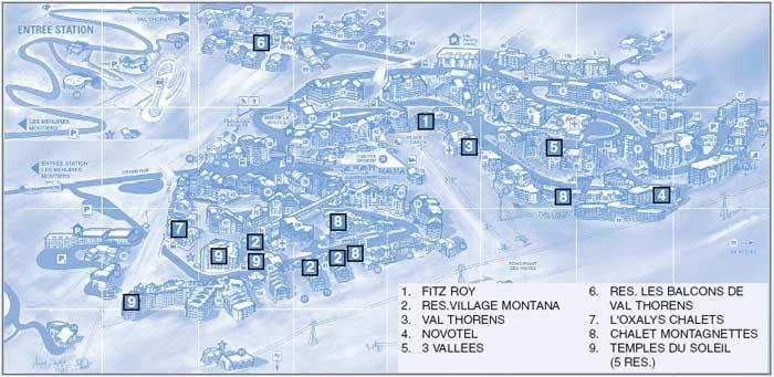Схема трасс Валь Торанс