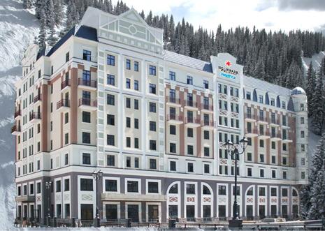 Отель HELIOPARK Freestyle Rosa Khutor расположен в центре